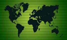 Vert de papier peint de carte de la terre Photographie stock libre de droits