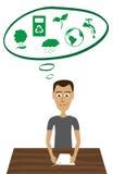 Vert de pensée illustration libre de droits