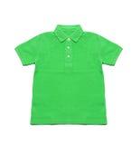 Vert de Polo Shirt d'isolement Photos stock