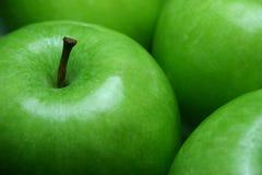 Vert de pommes de fruit Photos libres de droits