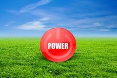 Vert de pouvoir Image libre de droits
