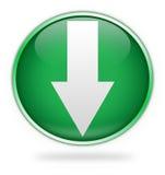 vert de téléchargement de bouton illustration stock
