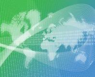 Vert de transfert de données du monde illustration stock