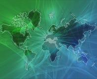 Vert de transfert de données du monde illustration de vecteur