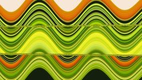 Vert de vague de modèle jaune-orange Photographie stock libre de droits