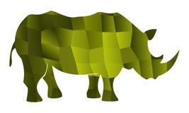 Vert de vecteur de rhinocéros illustration libre de droits