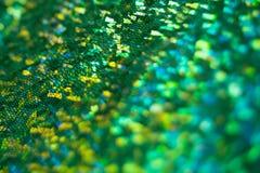Vert defocused de bokeh de tache floue de texture de peau de serpent images stock