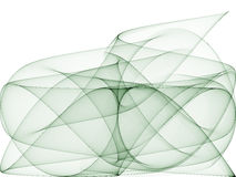 Vert des courbes de sinus d'art op cinq Photos libres de droits