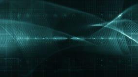 Vert différent de technologie de BOUCLE abstraite de fond illustration libre de droits