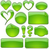 Vert en verre de formes Images libres de droits