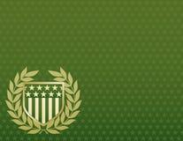 Vert et écran protecteur d'or sur un fond d'étoile Images libres de droits