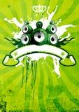 Vert et affiche de limette rétro Image stock