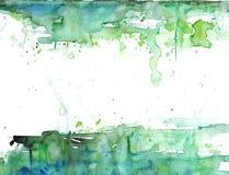 Vert et blanc Photographie stock libre de droits