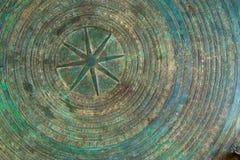 Vert et fond circulaire ethnique de configuration d'or images stock