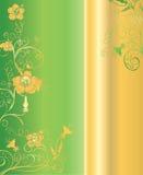 Vert et fond d'or Photo libre de droits