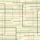 Vert et lignes d'or rétro Images libres de droits