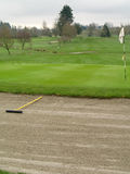 Vert et soute de golf Photographie stock libre de droits