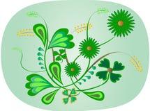 Vert floral illustration libre de droits