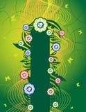 vert floral de drapeau illustration libre de droits
