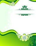 vert floral de fond Image libre de droits