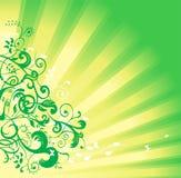vert floral de fond Photographie stock libre de droits