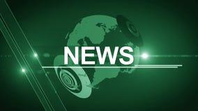 Vert 4K générique de fond d'actualités de globe banque de vidéos