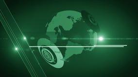 Vert 4K générique de fond de globe clips vidéos