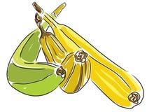 Vert mûr de bananes Photographie stock libre de droits