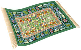 Vert magique de tapis Photos libres de droits