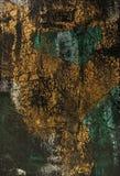 Or vert noir de fond Photographie stock libre de droits