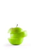 vert pomme découpé en tranches Photographie stock libre de droits