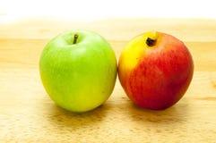 Vert pomme et rouge Image stock