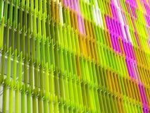 Vert rose coloré intérieur et extérieur de feuille en plastique acrylique Photographie stock