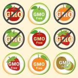 Vert rouge AP non GMO de garantie de GMO d'étiquette de label d'autocollant gratuit d'emblème Image stock