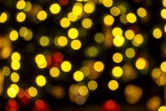 Vert rouge d'or rougeoyant de Noël Photographie stock