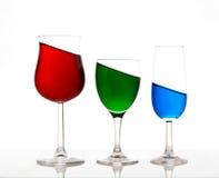 Vert rouge et bleu Images stock