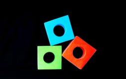 Vert rouge et le bleu bloque le RVB photos libres de droits