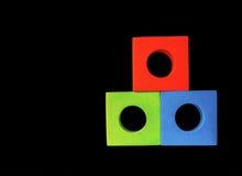 Vert rouge et le bleu bloque le RVB image libre de droits