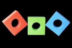 Vert rouge et le bleu bloque le RVB image stock