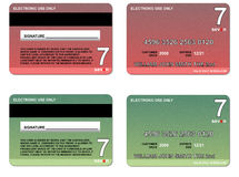 Vert rouge par la carte de crédit Photographie stock