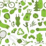 Vert sain de modèle de mode de vie Photo stock