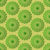 Vert sans couture de mandala de modèle Image stock