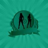 Vert sexy d'écran protecteur illustration libre de droits