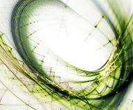 Vert sur le fond abstrait blanc Photos libres de droits