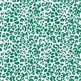 Vert sur le fond sans couture de modèle de répétition d'impression blanc de léopard illustration de vecteur