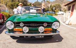 Vert 1972 Triumph TR6 photo libre de droits
