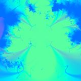 Vert vif et fond ou papier peint abstrait bleu Images libres de droits