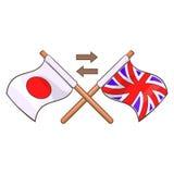 Vertaling aan Engels pictogram, beeldverhaalstijl stock illustratie