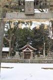 Vertaling: ` Een traditionele ruimte `, bij een oud Japans huis in Fukuoka, stock afbeelding