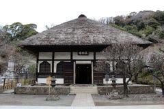 Vertaling: ` Engakuji Zen tempel ` Één van Vijf Groot Zen Temples Gozan, stock foto